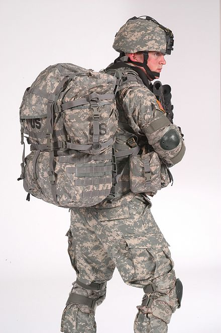 MOLLE System for a tactical backpack