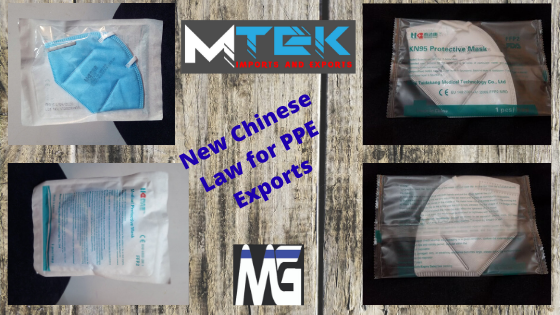 New Law for masks and PPE Exports from China