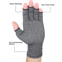 Melange Grey Compression Gloves